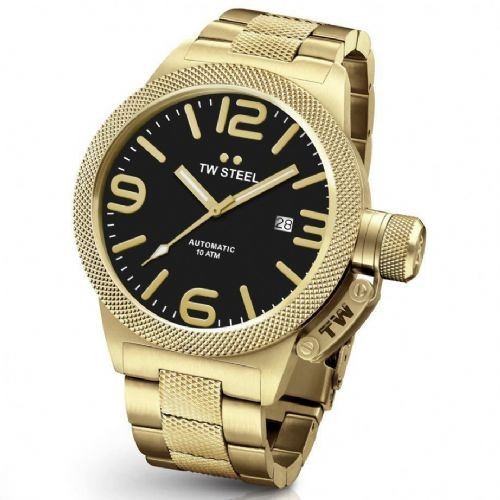 TW STEEL Canteen Automatic 50mm Gold Gents Watch CB96